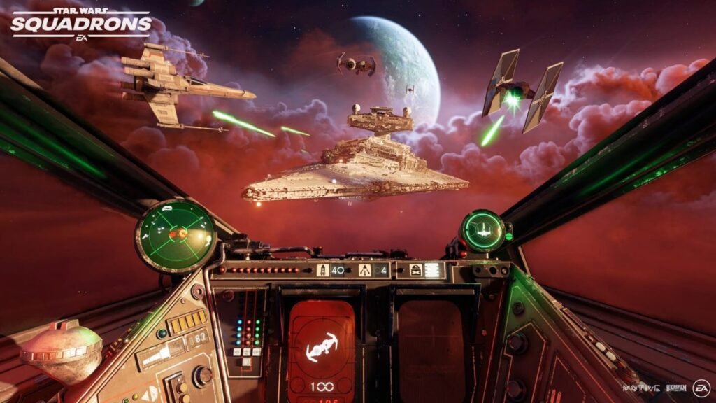 Star Wars Squadrons space battle