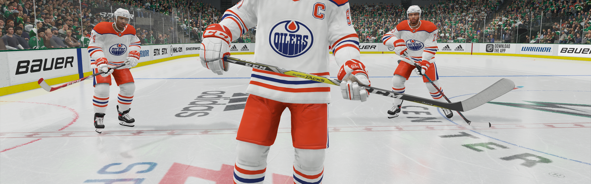NHL 21 - The Oilers in their Retro Reverse jerseys